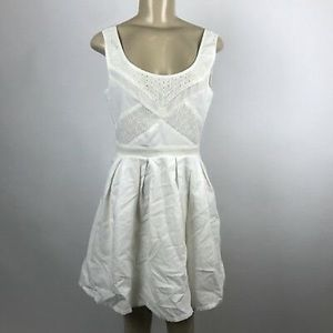 American Eagle Ivory Lace Pleated Dress
